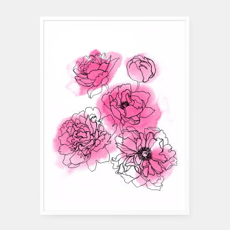 Thumbnail image of Peony Framed poster, Live Heroes