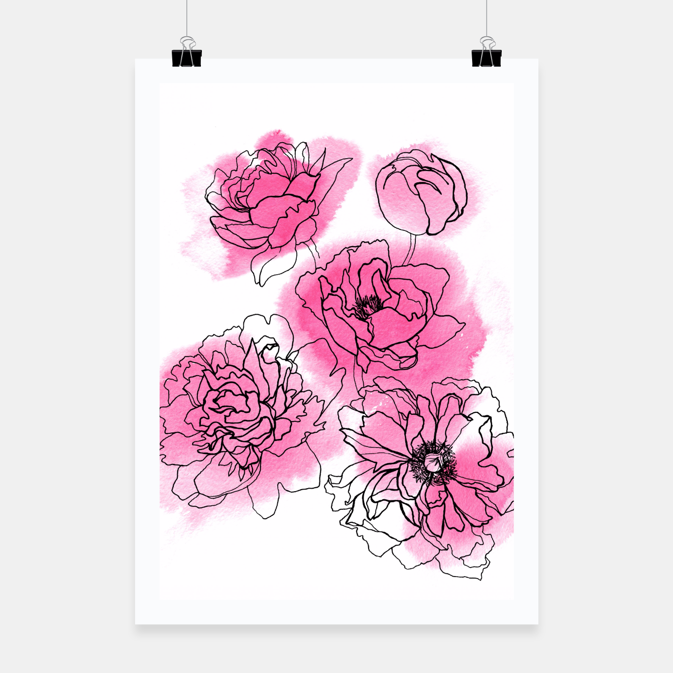 Image of Peony Poster - Live Heroes