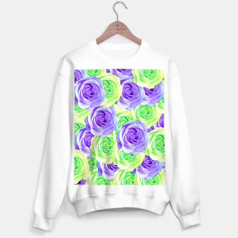 Thumbnail image of purple rose and green rose pattern abstract background Sweater regular, Live Heroes