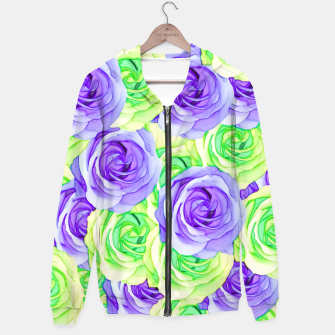 Thumbnail image of purple rose and green rose pattern abstract background Hoodie, Live Heroes