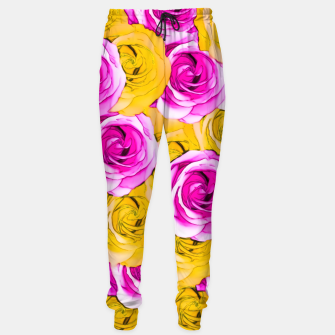 Imagen en miniatura de pink rose and yellow rose pattern abstract background Sweatpants, Live Heroes