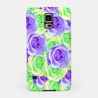 Thumbnail image of purple rose and green rose pattern abstract background Samsung Case, Live Heroes