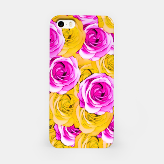 Imagen en miniatura de pink rose and yellow rose pattern abstract background iPhone Case, Live Heroes