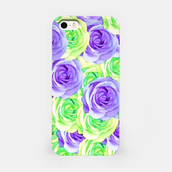Imagen en miniatura de purple rose and green rose pattern abstract background iPhone Case, Live Heroes