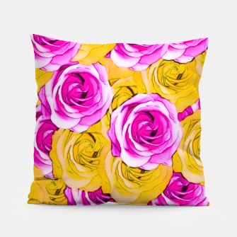 Imagen en miniatura de pink rose and yellow rose pattern abstract background Pillow, Live Heroes