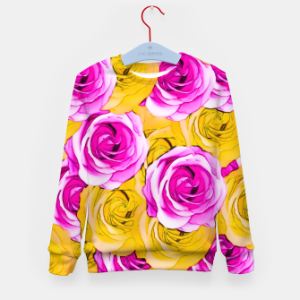 Imagen en miniatura de pink rose and yellow rose pattern abstract background Kid's Sweater, Live Heroes