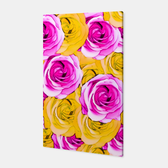 Imagen en miniatura de pink rose and yellow rose pattern abstract background Canvas, Live Heroes
