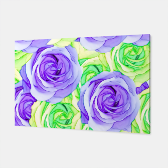 Imagen en miniatura de purple rose and green rose pattern abstract background Canvas, Live Heroes