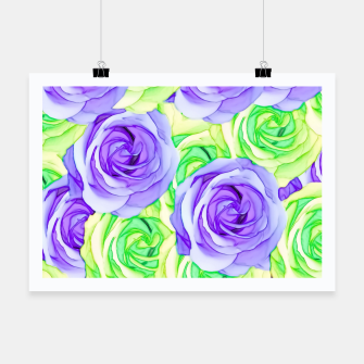 Thumbnail image of purple rose and green rose pattern abstract background Poster, Live Heroes