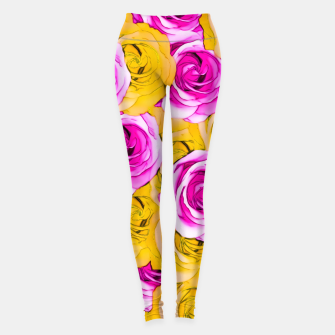 Imagen en miniatura de pink rose and yellow rose pattern abstract background Leggings, Live Heroes