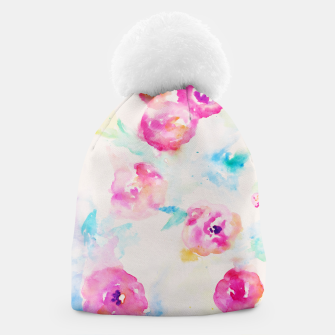 Thumbnail image of Watercolor Flowers Beanie, Live Heroes