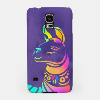 Thumbnail image of Violet llama by #Bizzartino Samsung Case, Live Heroes