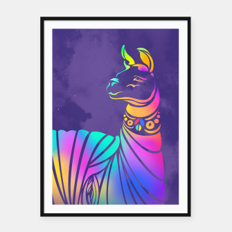 Thumbnail image of Violet llama by #Bizzartino Framed poster, Live Heroes