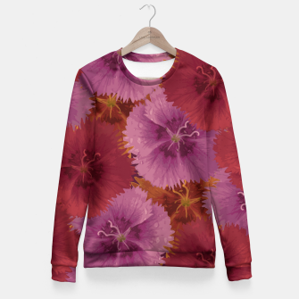 Thumbnail image of Triple Color Florals Fitted Waist Sweater, Live Heroes