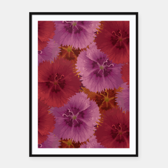 Thumbnail image of Triple Color Florals Framed poster, Live Heroes
