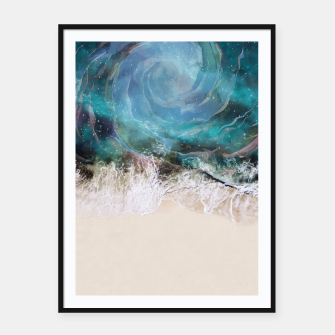 Thumbnail image of Sea Vortex Framed poster, Live Heroes