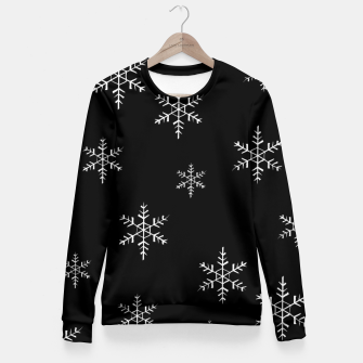 Thumbnail image of Snowflake b&w Fitted Waist Sweater, Live Heroes