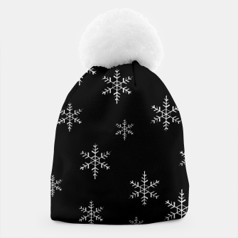 Thumbnail image of Snowflake b&w Beanie, Live Heroes