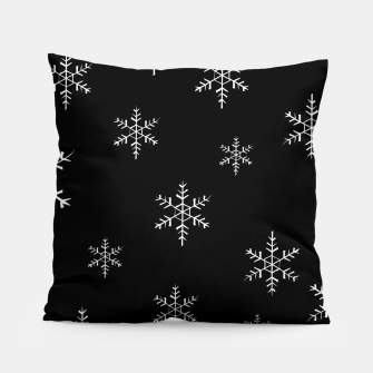 Thumbnail image of Snowflake b&w Pillow, Live Heroes