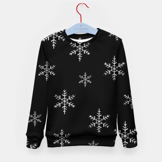 Thumbnail image of Snowflake b&w Kid's Sweater, Live Heroes