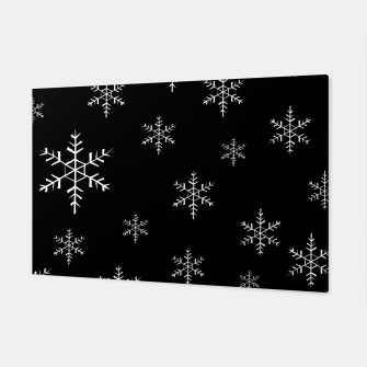 Thumbnail image of Snowflake b&w Canvas, Live Heroes