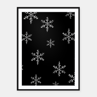 Thumbnail image of Snowflake b&w Framed poster, Live Heroes