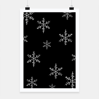 Thumbnail image of Snowflake b&w Poster, Live Heroes