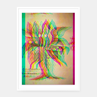 Thumbnail image of Mandragora Engraving Glitch Version Framed poster, Live Heroes