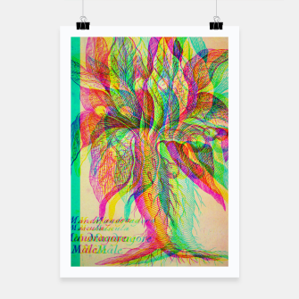 Thumbnail image of Mandragora Engraving Glitch Version Poster, Live Heroes