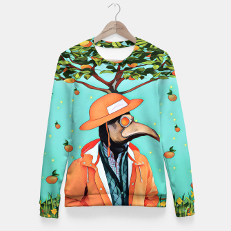 Thumbnail image of Orange man Fitted Waist Sweater, Live Heroes