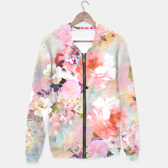Thumbnail image of Romantic Pink Teal Watercolor Chic Floral pattern Hoodie, Live Heroes