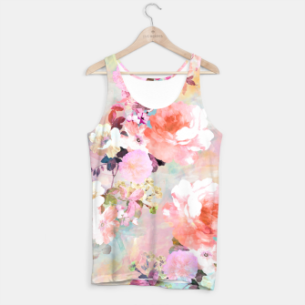 Thumbnail image of Romantic Pink Teal Watercolor Chic Floral pattern Tank Top, Live Heroes