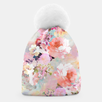 Thumbnail image of Romantic Pink Teal Watercolor Chic Floral pattern Beanie, Live Heroes