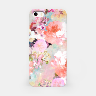 Thumbnail image of Romantic Pink Teal Watercolor Chic Floral pattern iPhone Case, Live Heroes