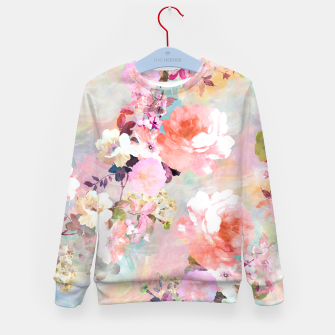 Thumbnail image of Romantic Pink Teal Watercolor Chic Floral pattern Kid's Sweater, Live Heroes