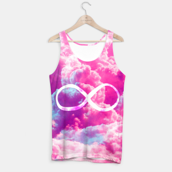 Thumbnail image of Girly Infinity Symbol Bright Pink Clouds Sky  Tank Top, Live Heroes