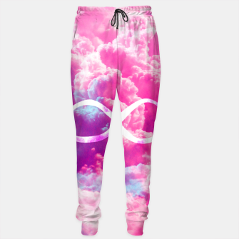 Thumbnail image of Girly Infinity Symbol Bright Pink Clouds Sky  Sweatpants, Live Heroes