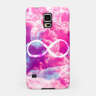 Thumbnail image of Girly Infinity Symbol Bright Pink Clouds Sky  Samsung Case, Live Heroes