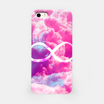 Thumbnail image of Girly Infinity Symbol Bright Pink Clouds Sky  iPhone Case, Live Heroes