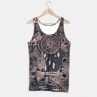 Miniature de image de Modern rose gold dreamcatcher floral doodles navy blue illustration  Tank Top, Live Heroes