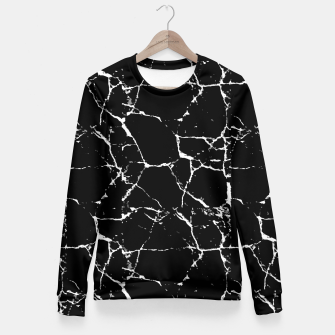 Thumbnail image of Black and White Textured Pattern Fitted Waist Sweater, Live Heroes