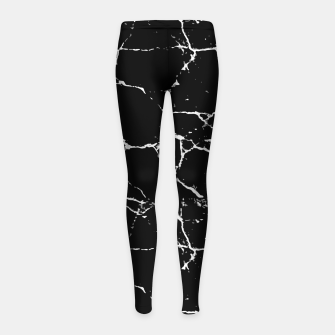Thumbnail image of Black and White Textured Pattern Girl's Leggings, Live Heroes