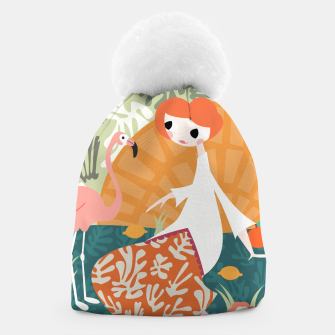 Thumbnail image of Girl with flamingo 001 Beanie, Live Heroes