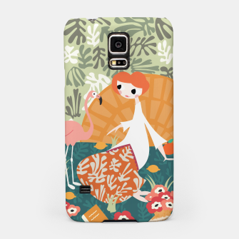 Thumbnail image of Girl with flamingo 001 Samsung Case, Live Heroes