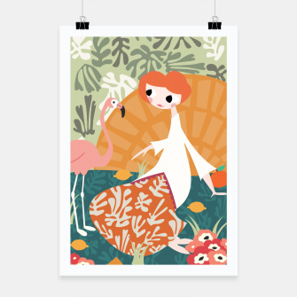 Thumbnail image of Girl with flamingo 001 Poster, Live Heroes