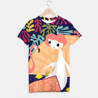 Thumbnail image of Girl with flamingo, 002 T-shirt, Live Heroes