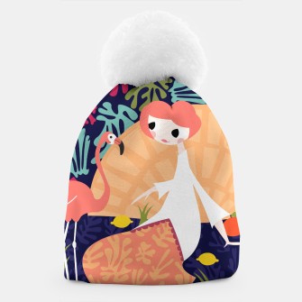 Thumbnail image of Girl with flamingo, 002 Beanie, Live Heroes