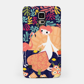 Thumbnail image of Girl with flamingo, 002 Samsung Case, Live Heroes
