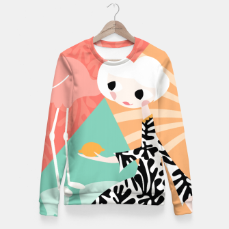 Thumbnail image of Girl with flamingo, 003 Fitted Waist Sweater, Live Heroes