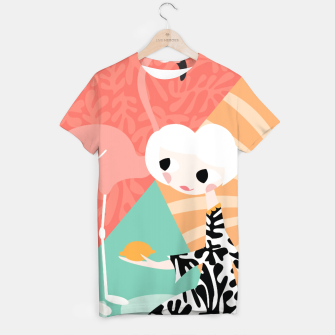 Thumbnail image of Girl with flamingo, 003 T-shirt, Live Heroes